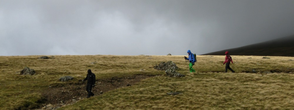 Just a wet walk in the Cairngorms, it has nothing to do with coordinates systems but it's nice