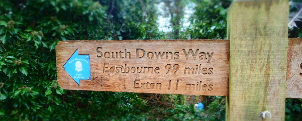 Start sign for the South Downs Way