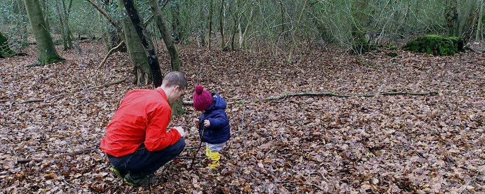 Winter hiking with a baby in Epping Forest