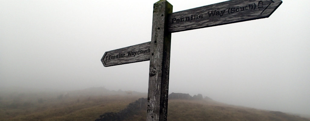 The Pennine Way sign stand with pride