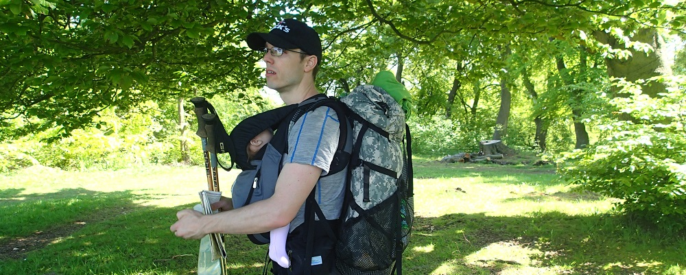 Hiking in the South Downs with the Ergobaby Performance