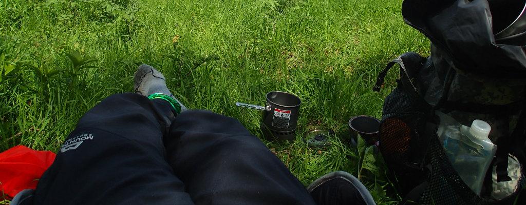The Ibex Pants on a coffee break