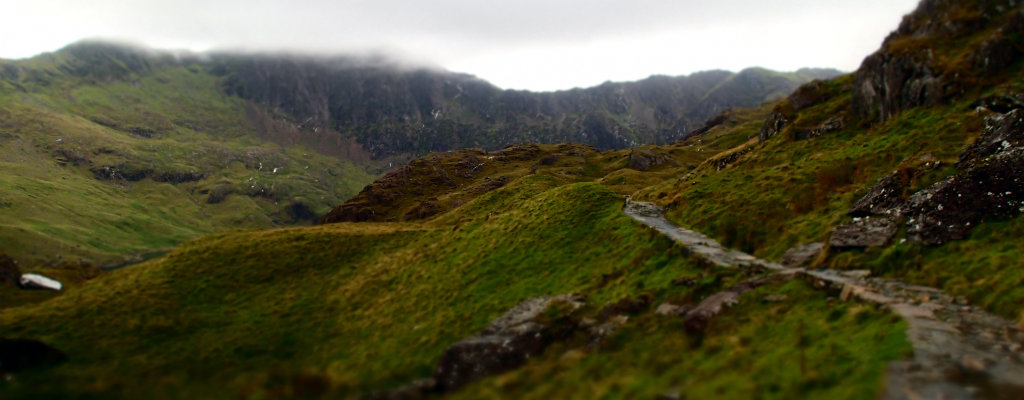 Approaching Snowdon from the Pyg track, the most popular part of Snowdonia